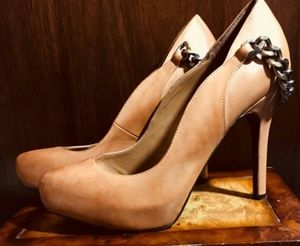 Preloved~ Fergie Leather Heels